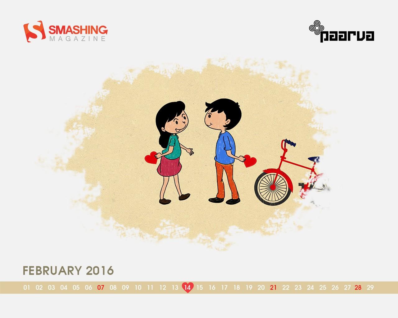 Ngày Valentine 14-02 là chủ đề chính cho các hình nền tháng 02