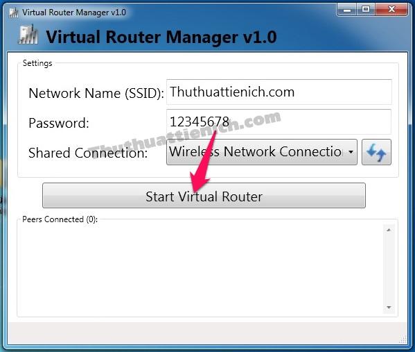 Phần mềm phát wifi Virtual Router