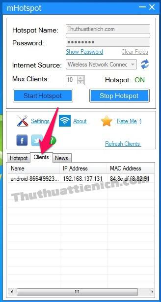 Quản lý các thiết bị kết nối đến wifi trong phần Clients