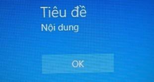 Cách tạo thông báo ở màn hình đăng nhập Windows 10