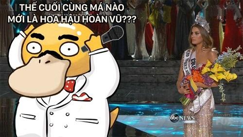 Bối rối khi công bố kết quả Hoa hậu hoàn vũ