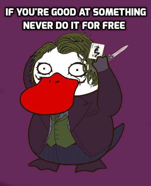 Vịt bối rối hóa thân Joker với câu nói bất hủ