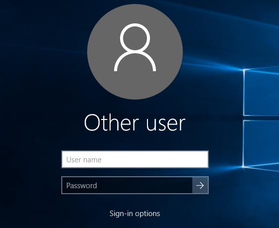 Khởi động lại máy tính hoặc Sign out (Đăng xuất) là bạn sẽ thấy màn hình đăng nhập thay đổi