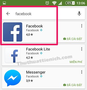 Tìm kiếm ứng dụng bạn muốn tắt cập nhật tự động