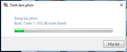 Windows Movie Maker lưu video vừa chỉnh sửa