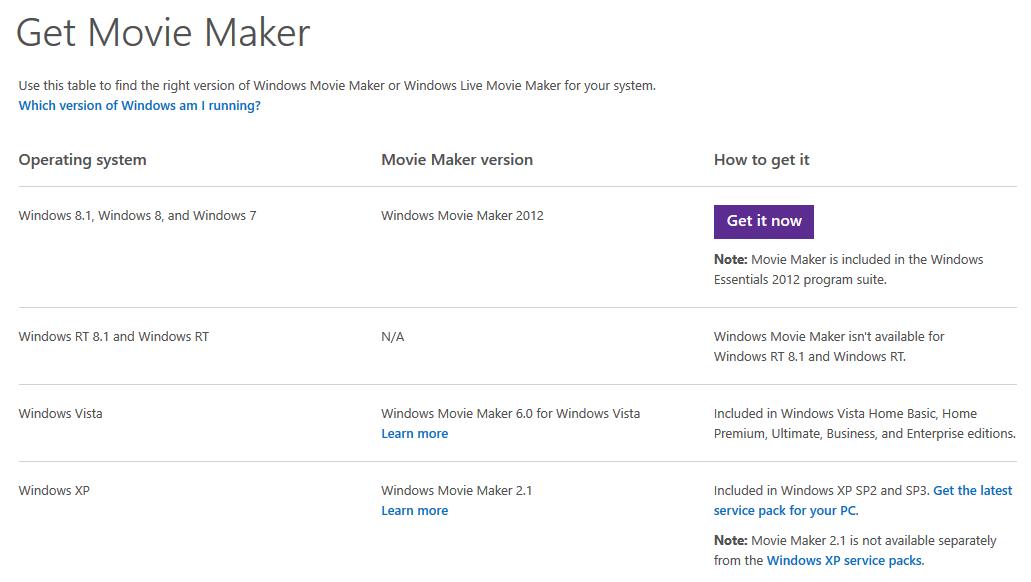 Download phần mềm Windows Movie Maker về máy tính