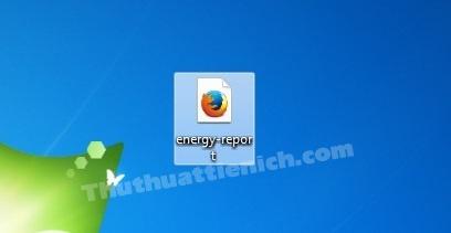 Copy file energy-report.html ra màn hình Desktop