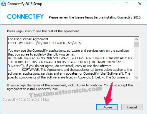 Cài đặt phần mềm Connectify