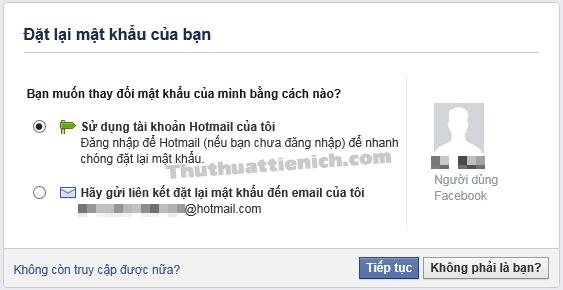 Các phương thức đặt lại mật khẩu Facebook