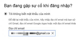 Quên mật khẩu Gmail?