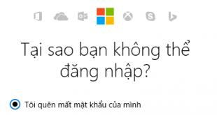 Quên mật khẩu tài khoản Microsoft (Outlook/Hotmail)