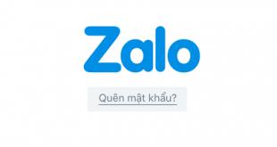 Cách lấy lại mật khẩu Zalo bị quên hoặc mất nhanh nhất