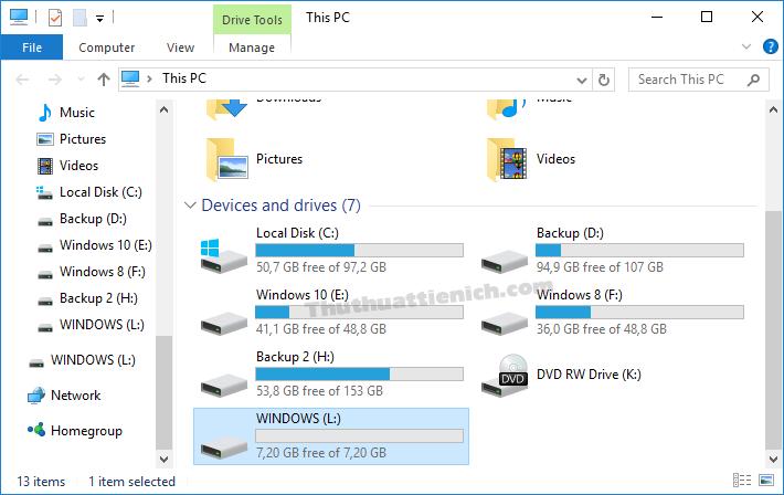 Dung lượng bị mất của USB đã được lấy lại