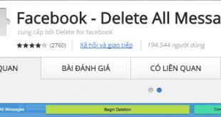 Cách xóa toàn bộ tin nhắn, cuộc trò chuyện trên Facebook