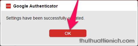 Nhấn nút OK