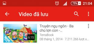 Cách tải video Youtube về điện thoại xem Offline trên Android & IOS
