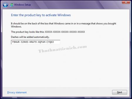 Key cài đặt Windows 8/8.1 & Windows 10