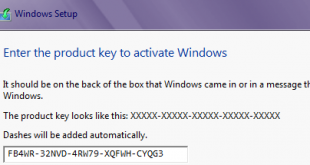 Product Key cài đặt Windows 8/8.1 & Windows 10