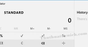 Cách mở máy tính (Calculator) trên Windows 7/8.1/10