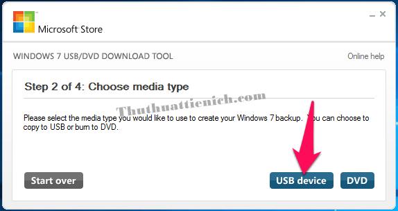 Nhấn nút USB device