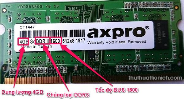 Cách đọc các thông số ghi trên thanh RAM