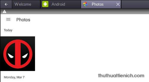 Ví dụ bạn chép ảnh vào BlueStacks, sau khi chép xong bạn sẽ thấy ảnh trong ứng dụng Photos