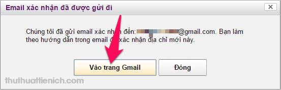 Nhấn nút Vào trang Gmail để truy cập Gmail để xác minh