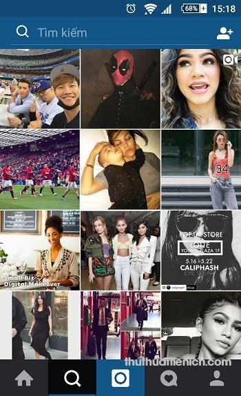 Giao diện Instagram