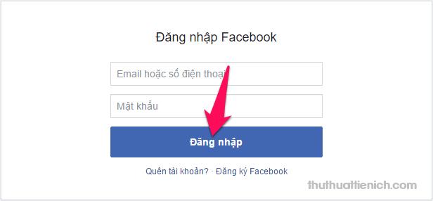 Đăng nhập với tài khoản Facebook của bạn