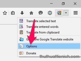 Mở Cài đặt S3.Google Translator
