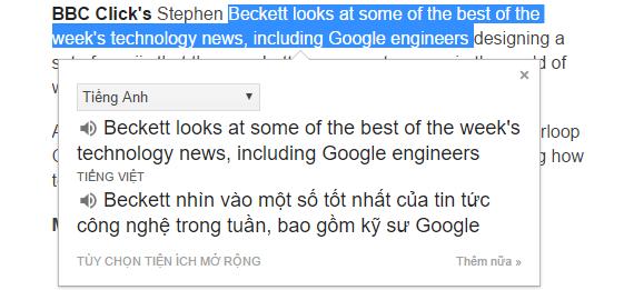 Add-on Google dịch