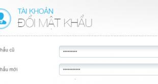 Cách thay đổi mật khẩu tài khoản VTC