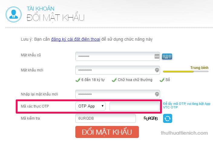 Mã xác thực OTP bạn có thể nhận theo 2 cách: