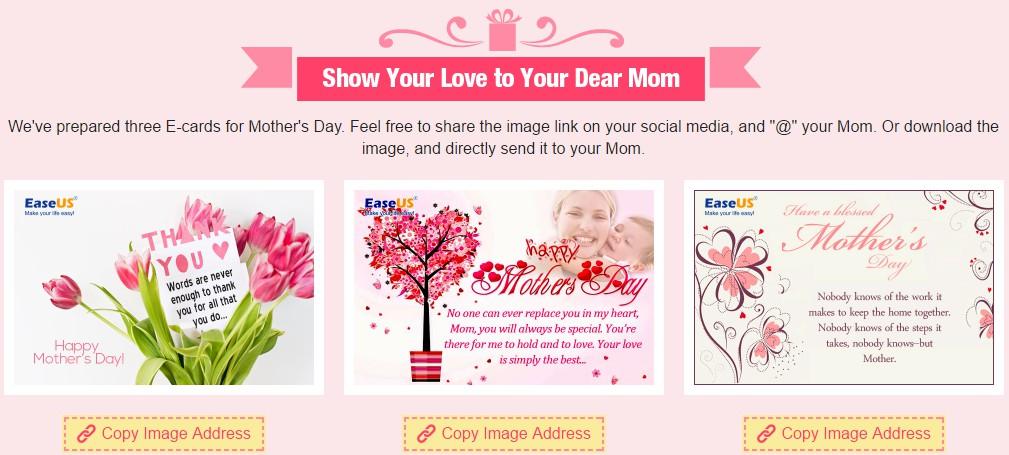Thiệp về Ngày của mẹ