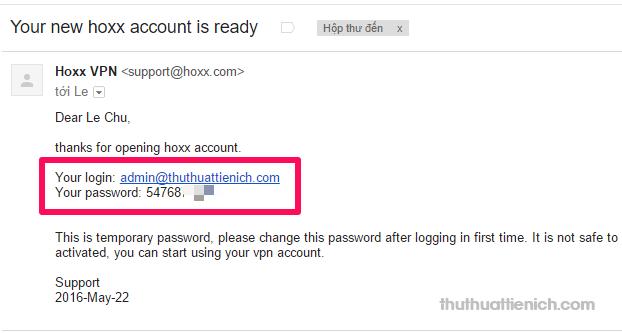 Kiểm tra email nhập khi đăng ký để lấy mật khẩu