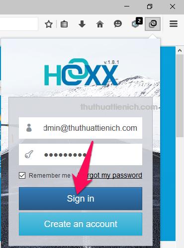 Đăng nhập với email và mật khẩu vừa nhận