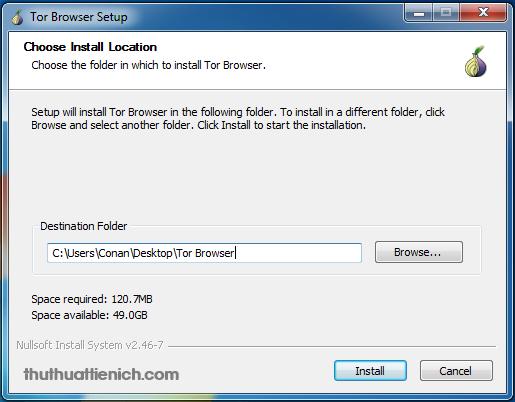 Cài đặt trình duyệt Tor lên máy tính