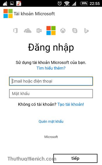 Đăng nhập với tài khoản Microsoft của bạn. Nếu bị yêu cầu xác nhận khi truy cập thông tin nhạy cảm, hãy xác nhận theo hướng dẫn