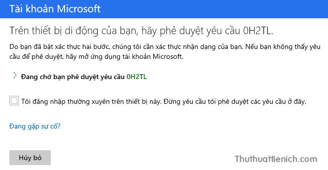 Bật xác minh 2 bước cho tài khoản Outlook/Hotmail (Microsoft)