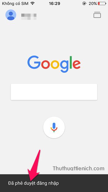 Bạn sẽ thấy thông báo Đã phê duyệt đăng nhập trong ứng dụng Google