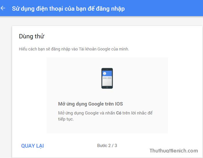 Google hướng dẫn bạn cách để kết nối với điện thoại. Bạn để đó, mở điện thoại lên