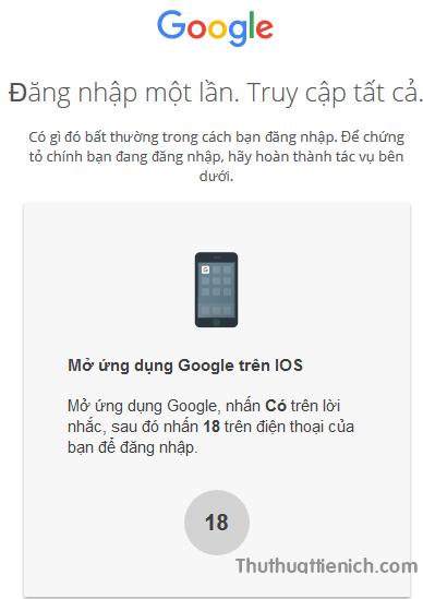 Tính năng đăng nhập Google bằng Smartphone