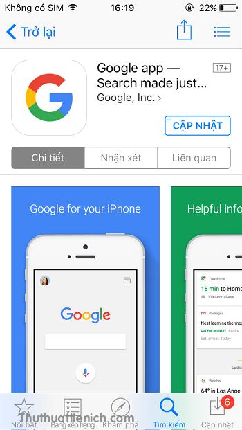 Cài đặt ứng dụng Google