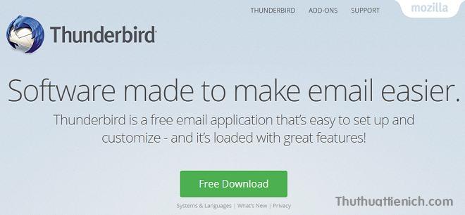 Ứng dụng Mozilla Thunderbird