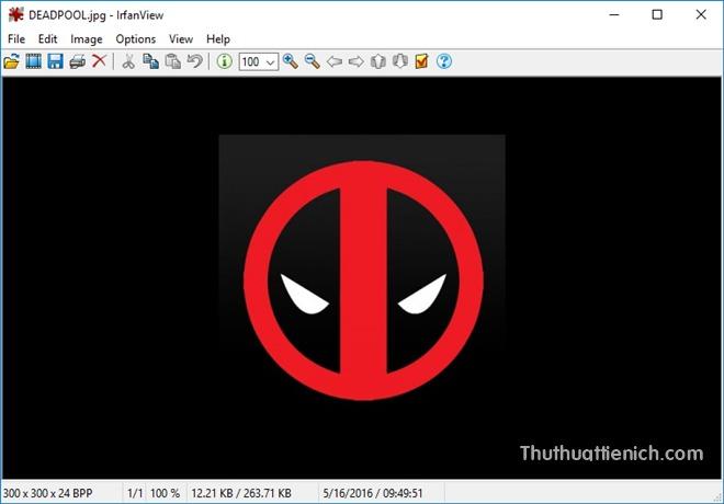 Giao diện phần mềm IrfanView