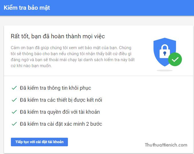 Kiểm tra bảo mật bằng công cụ của Google