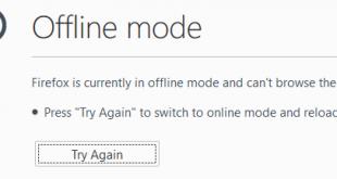 Cách bật chế độ duyệt web Offline trên trình duyệt Firefox