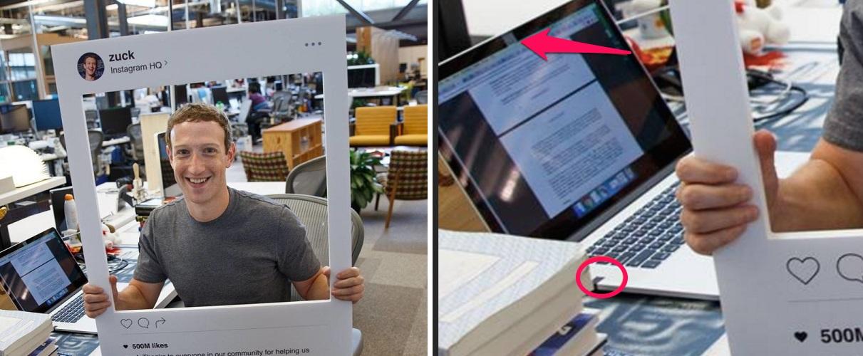 Mark Zuckerberg dán băng keo lên webcam và microphone của máy tính