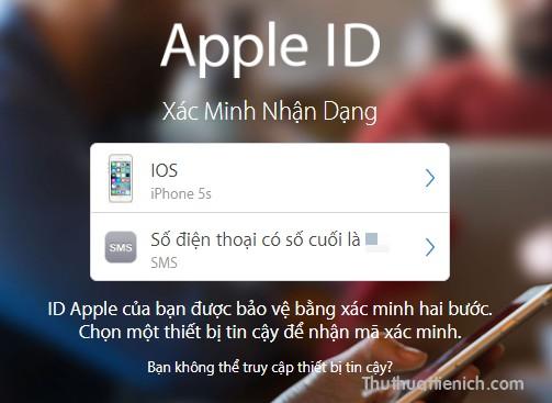 Lúc này mỗi khi đăng nhập tài khoản Apple ID, bạn sẽ phải được yêu cầu nhập mã xác minh để tiếp tục