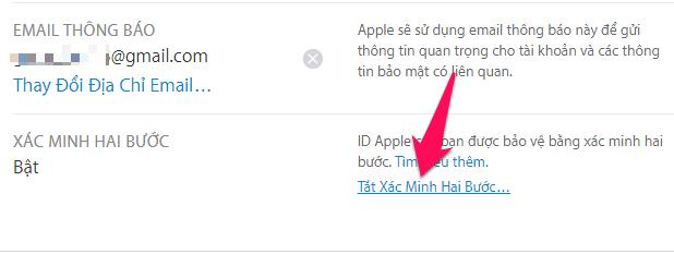 Hướng dẫn cách tắt xác minh 2 bước cho tài khoản Apple ID